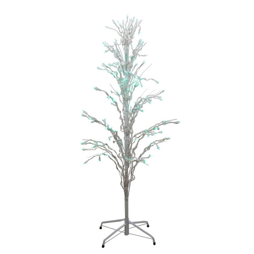 4' Pre-Lit LED Lighted Cascade Twig Tree Christmas Outdoor Yard Art Decor - IMAGE 1