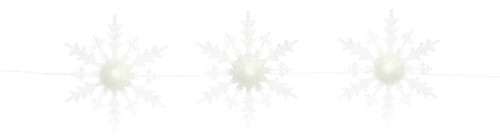 5' White Three Lighted Christmas Snowflakes on a Strand - IMAGE 1