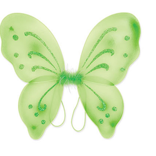 Club Pack of 12 Green Elegant Wings Party Armbands - IMAGE 1