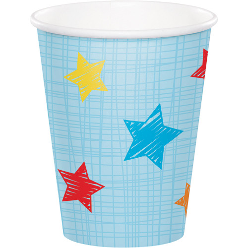 Club Pack of 96 Blue and Red Hot Cold Cups 9 oz. - IMAGE 1