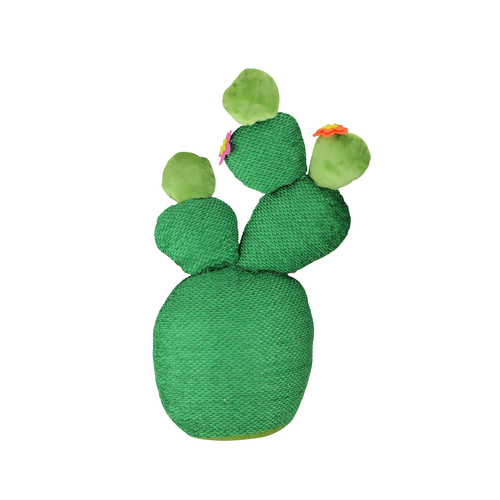 "15"" Green Artificial Plush Cactus Plant Tabletop Decor - IMAGE 1"
