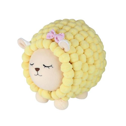 "6"" Pastel Yellow Baby Lamb Easter Spring Decoration - IMAGE 1"