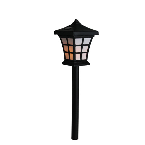 "13.5"" Pre-Lit Black Battery Operated LED Outdoor Patio Lantern - IMAGE 1"