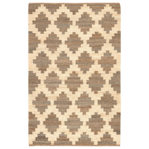 8.8' x 11.75' Gray and Ivory Souk Geometric Hand Woven Area Throw Rug - IMAGE 1