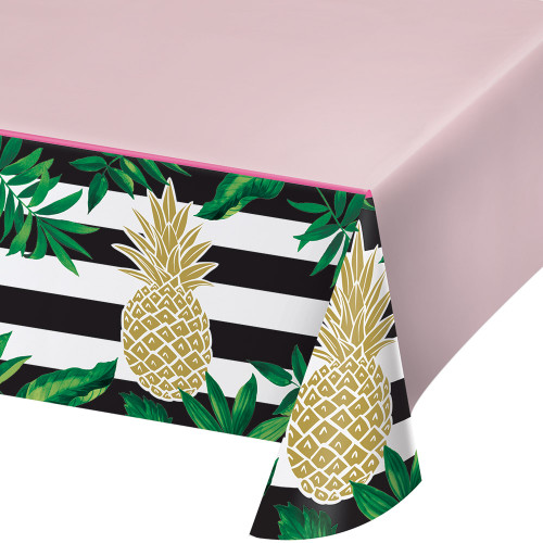 """Pack of 6 Green and Yellow Wedding Rectangular Decorative Party Table Covers 102"""" - IMAGE 1"""