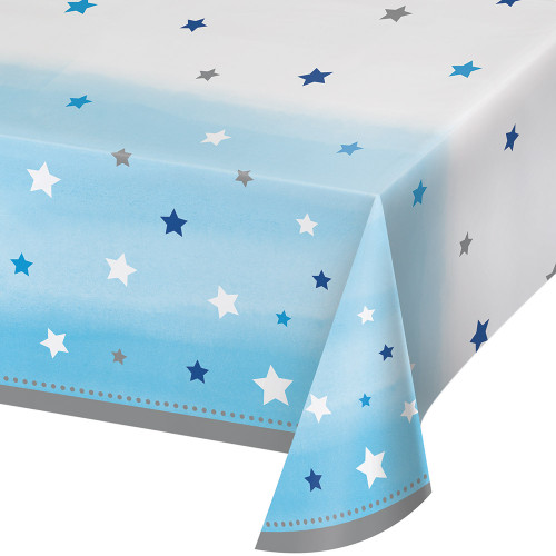 """Pack of 6 Blue and White Little Stars Decorative Table Cover 102"""" - IMAGE 1"""