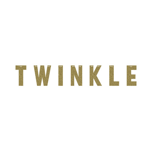 """Pack of 6 Gold """"Twinkle"""" Decorative Party Banners 60"""" - IMAGE 1"""