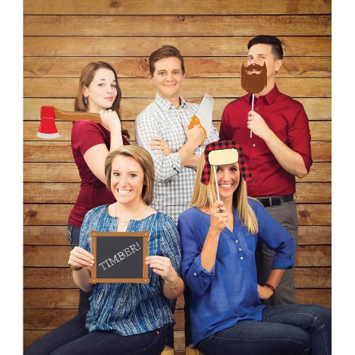 Pack of 6 Brown Wood Grains Unique Decorative Photo Backdrop Cloths 6' - IMAGE 1