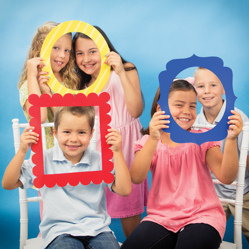 """Club Pack of 18 Yellow and Red Card Stock Photo Frames 15"""" - IMAGE 1"""