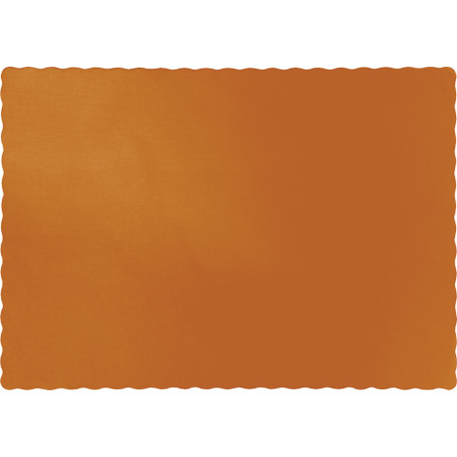 "Club Pack of 600 Yellow and Brown Disposable Table Placemats 15.5"" - IMAGE 1"