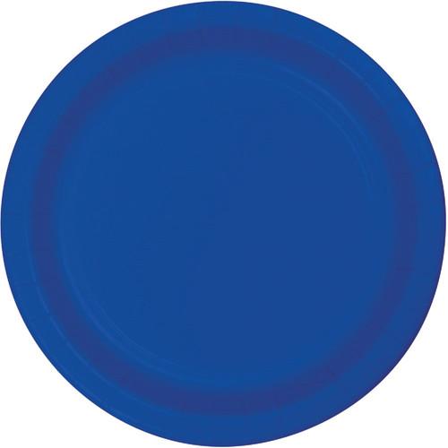 "Club Pack of 240 Cobalt Blue Paper Party Banquet Plates 10"" - IMAGE 1"