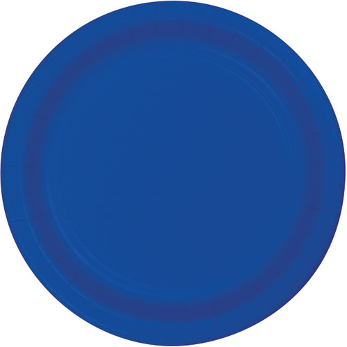 "Club Pack of 240 Cobalt Blue Round Paper Party Dinner Plates 9"" - IMAGE 1"