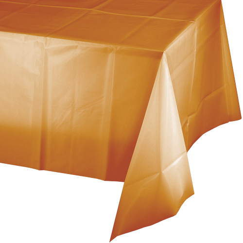 """Club Pack of 12 Glittering Gold Decorative Banquet Premium Party Table Covers 108"""" - IMAGE 1"""