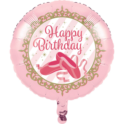 """Club Pack of 10 Pink and White """"Happy Birthday"""" Girl Metallic Party Balloons 8"""" - IMAGE 1"""
