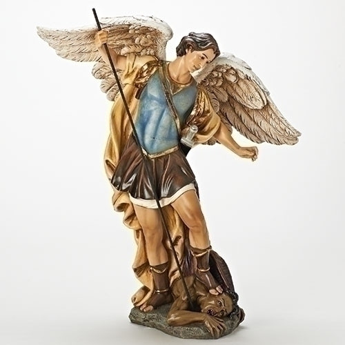 "18.75"" St. Michael Patron of Warriors Religious Statue - IMAGE 1"