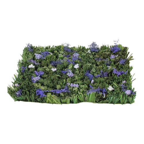 """12.5"""" Green and Purple Lavender Inspired Foliage Floor Mat - IMAGE 1"""
