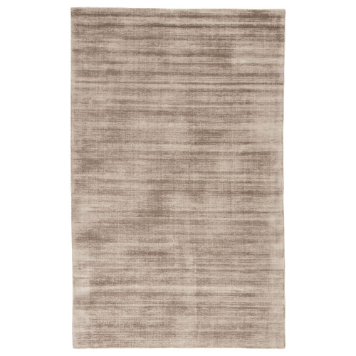 2' x 3' Solid Champagne Rose Hand Loomed Art Silk Area Throw Rug - IMAGE 1
