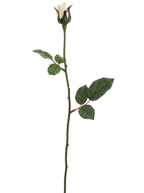 "Club Pack of 48 Artificial Single Vanilla Rose Bud Silk Flower Sprays 23"" - IMAGE 1"