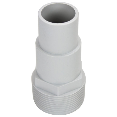 """4"""" White Swimming Pool or Spa Threaded Hose Adapter - IMAGE 1"""