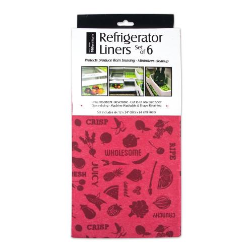 Set of 6 Pink Reversible Refrigerator Liners 24' - IMAGE 1
