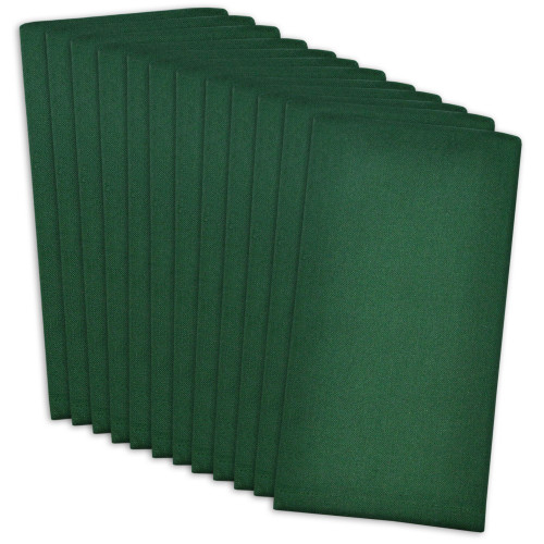 """Club Pack of 12 Hunter Green Solid Pattern Buffet Dinner Square Napkins 16"""" - IMAGE 1"""