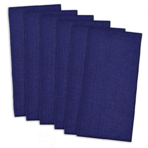 """Pack of 6 Nautical Blue Solid Pattern Buffet Dinner Square Napkins 20"""" - IMAGE 1"""
