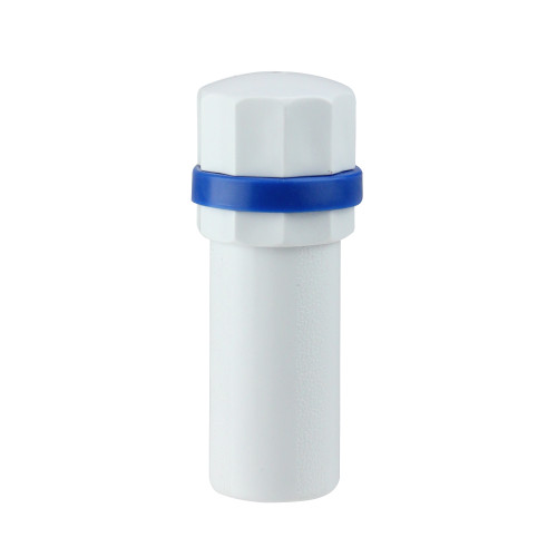 """4"""" White and Blue Deluxe Handle for Adjustable Swimming Pool Poles - IMAGE 1"""
