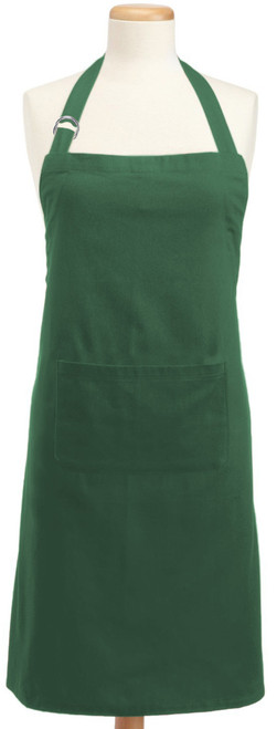 32' x 28' Dark Green Colored Adjustable Chefs Apron with Pockets - IMAGE 1