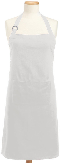 32' x 28' Cream White Colored Adjustable Chefs Apron with Pockets - IMAGE 1