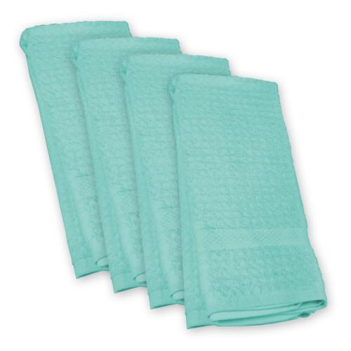 Set of 4 Turquoise Blue Rectangular Dishtowel 18' x 28' - IMAGE 1