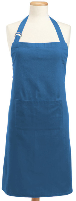 32' x 28' Blue Colored Adjustable Chefs Apron with Pockets - IMAGE 1