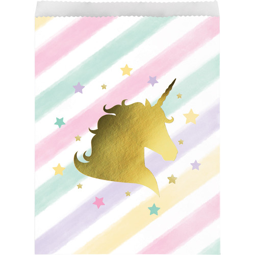 """Club Pack of 120 Pink and Yellow Star Photo Treat Bag 8.75"""" - IMAGE 1"""