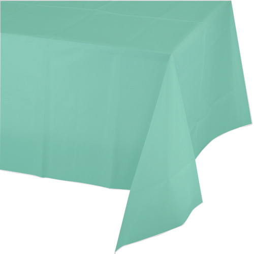 "Club Pack of 24 Green Heavy-Duty Disposable Tablecloths 108"" - IMAGE 1"