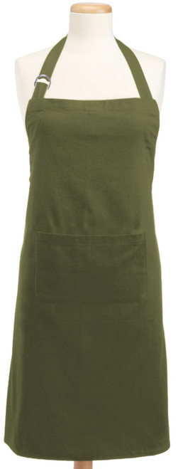 """32"""" Green Apron with Adjustable Neck and Waist Ties - IMAGE 1"""