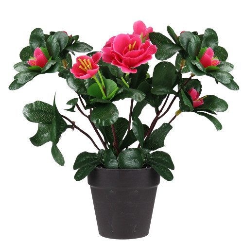 """7.5"""" Pink Potted Artificial Spring Rose Plant - IMAGE 1"""