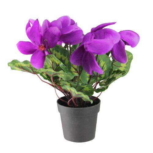 """12"""" Purple Potted Artificial Hedychium Coronarium Floral Arrangement - IMAGE 1"""