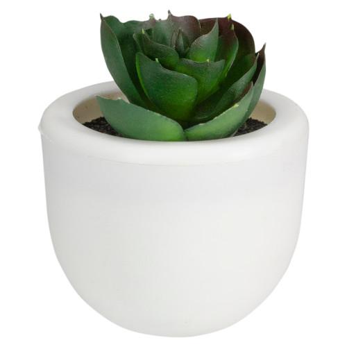 """3"""" Mini Faux Succulent with White Pot - IMAGE 1"""