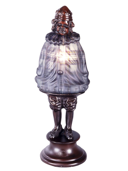 "12.5"" Gray Plaid Antique Scotch Boy Accent Table Lamp - IMAGE 1"