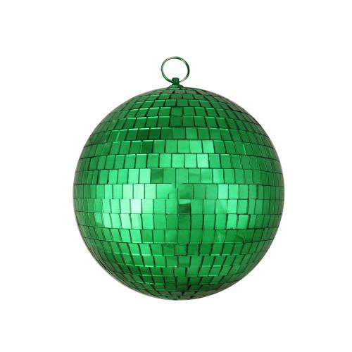 "Shiny Green Mirrored Disco Christmas Ball Ornament 8"" (200mm) - IMAGE 1"