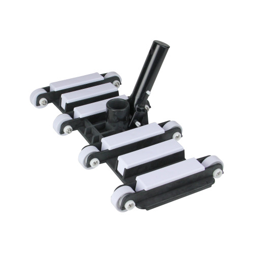 14 White and Black Flexible Weighted Vacuum Head with Aluminum Handle - IMAGE 1