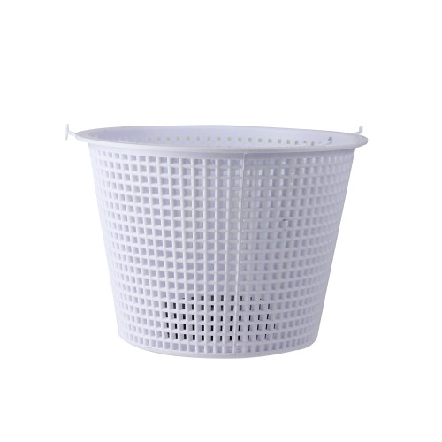 """7"""" White Round Heavy Weighted Swimming Pool Skimmer Basket - IMAGE 1"""