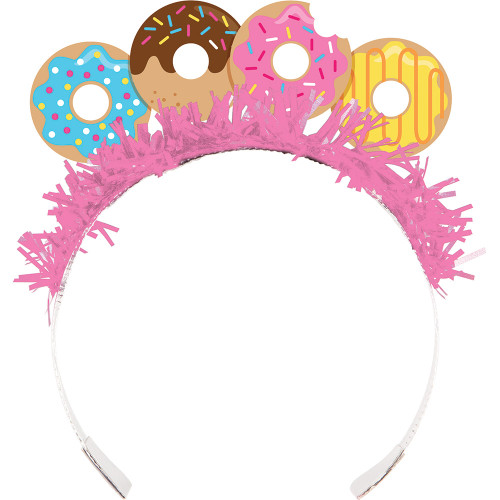 """Pack of 48 Vibrantly Colored Donut Time Party Headbands 6"""" - IMAGE 1"""
