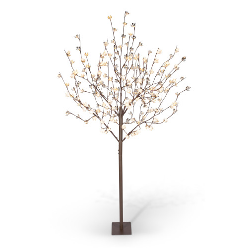 8' Brown Electrically-Powered LED Lights Blossom Tree with Seven Branches - IMAGE 1