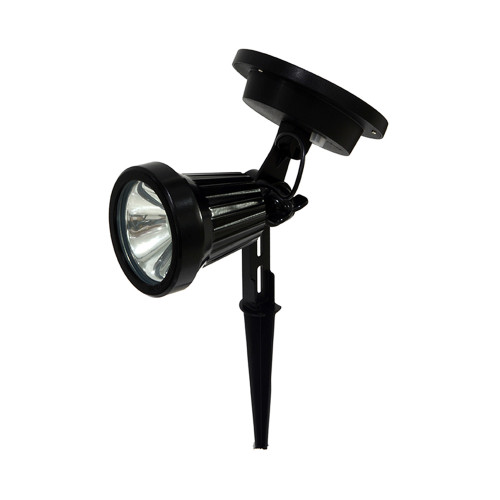 "Set of 2 Black and Clear Solar Powered Spotlights 10.5"" - IMAGE 1"