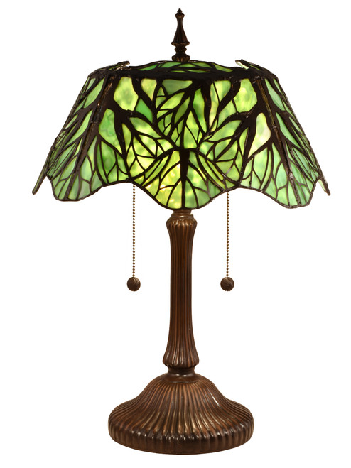 """23.5"""" Tiffany Decorative Table Lamp with Hand Rolled Art Glass Shade - IMAGE 1"""