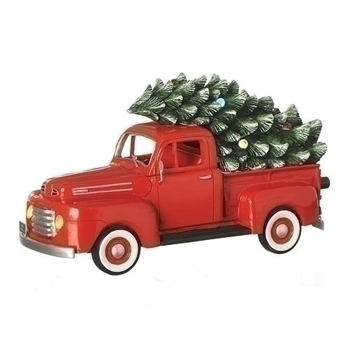"""Set of 2 Musical 1948 Ford Truck Retro Christmas Decoration 10.25"""" - IMAGE 1"""