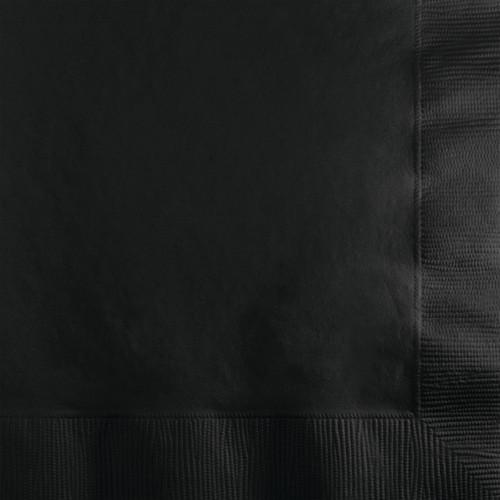 "Club Pack of 240 Black Velvet Square Disposable Beverage Napkins 6.5"" - IMAGE 1"