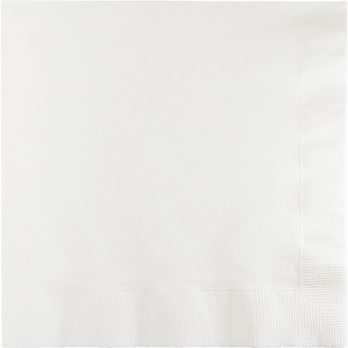 """Club Pack of 240 White Square Disposable Beverage Napkins 6.5"""" - IMAGE 1"""