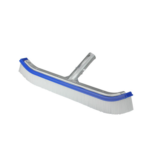 """18"""" Blue Standard Curve Wall Brush with Back Support - IMAGE 1"""
