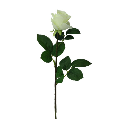 "30"" White and Green Artificial Rose Stemmed Flower Spray - IMAGE 1"